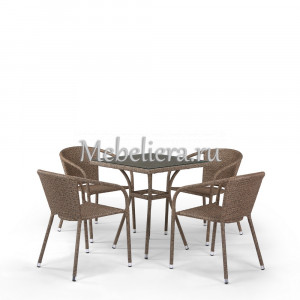 T282BNT/Y137C-W56 Light Brown 4Pcs